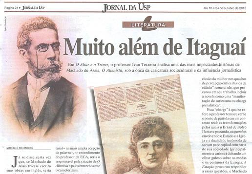 Jornal da USP fala de O Altar e o Trono de Ivan Teixeira