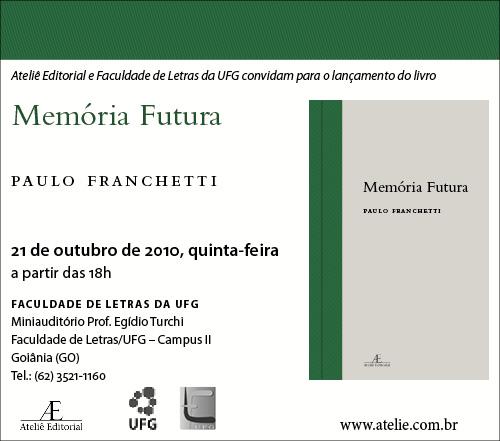 Lançamento de Memória Futura, Paulo Franchetti