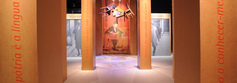 Exposição de Fernando Pessoa no Museu da Língua Portuguesa