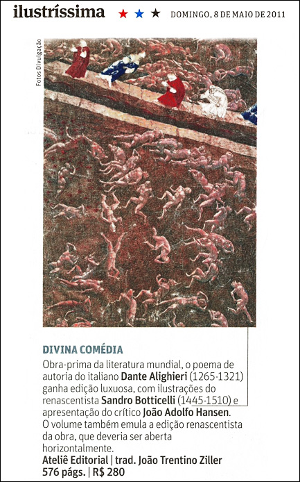 Divina Comédia, de Dante Alighieri na Ilustríssima