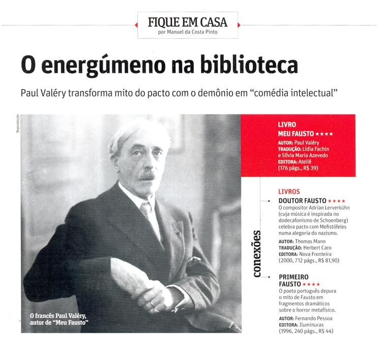 Livro Meu Fausto, de Paul Valéry