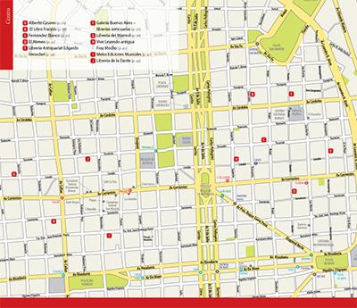 Mapa do centro de Buenos Aires