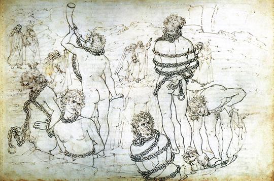 Inferno – Ilustração de Sandro Botticelli