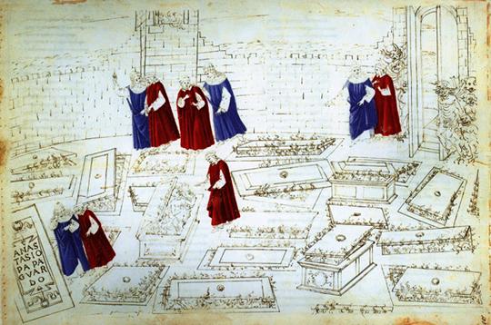 Inferno –Ilustração de Botticelli