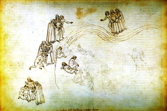 Purgatório – Ilustração de Sandro Botticelli