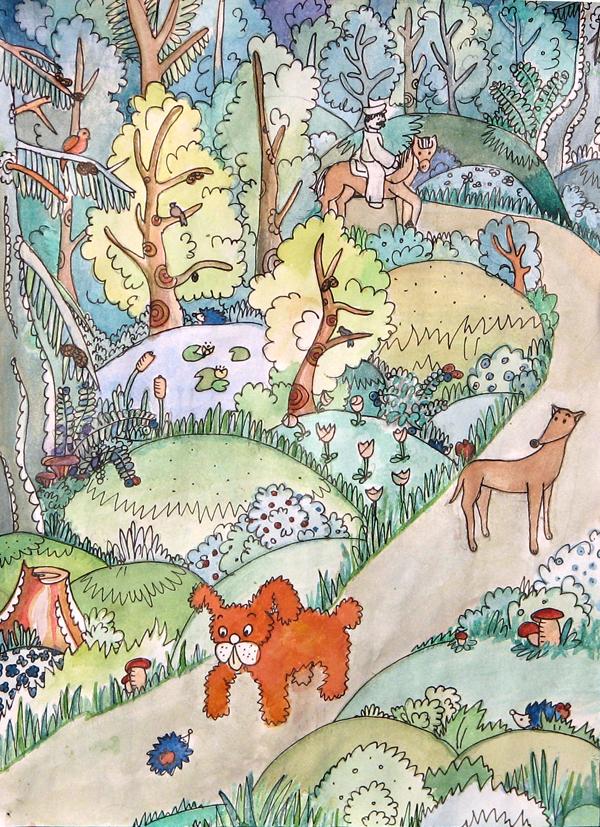 """Ilustração do livro """"Contos da Nova Cartilha – Segundo Livro de Leitura – Vol. 1"""""""