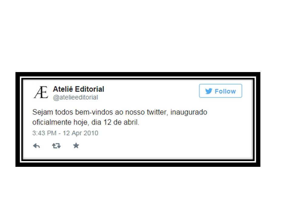 Primeiro Tweet com borda