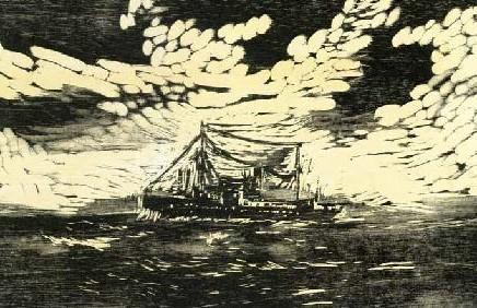 """Ilustração de Luise Weiss para """"Rumo à Vertigem"""": a inevitável presença do mar"""