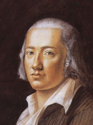 O poeta alemão Friedrich Hölderlin (1770 - 1843)