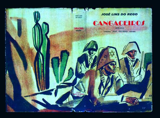 "Capa de santa Rosa para ""Cangaceiros"", de José Lins do Rego (1953)"