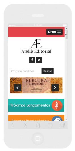 tela do site no celular